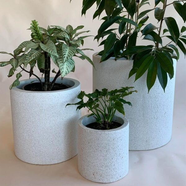 Whitestone Cylinder Planters in 3 sizes from The Green Room