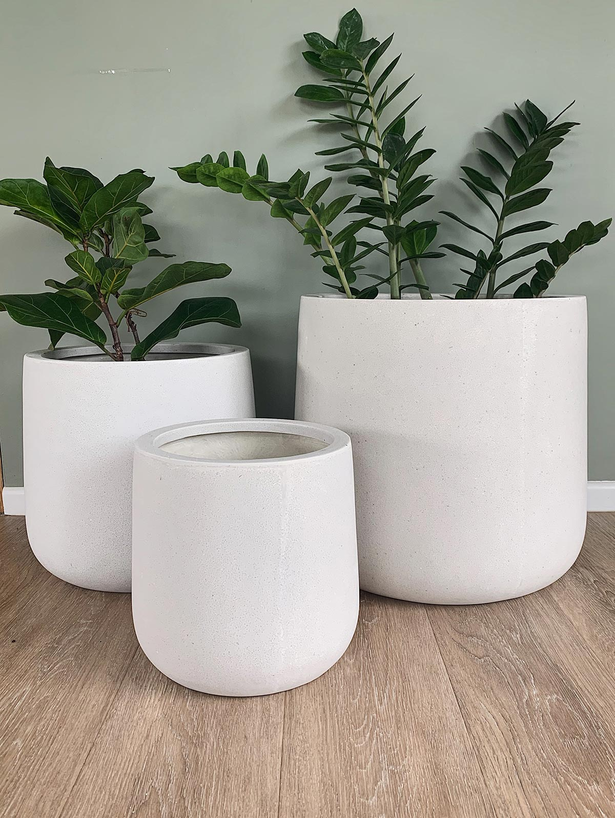 Bianca Lite Cylinder Planter pots in different sizes from The Green Room